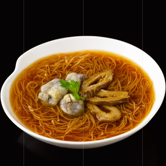 Braised Mee Sua with Oysters and Pig's Intestines