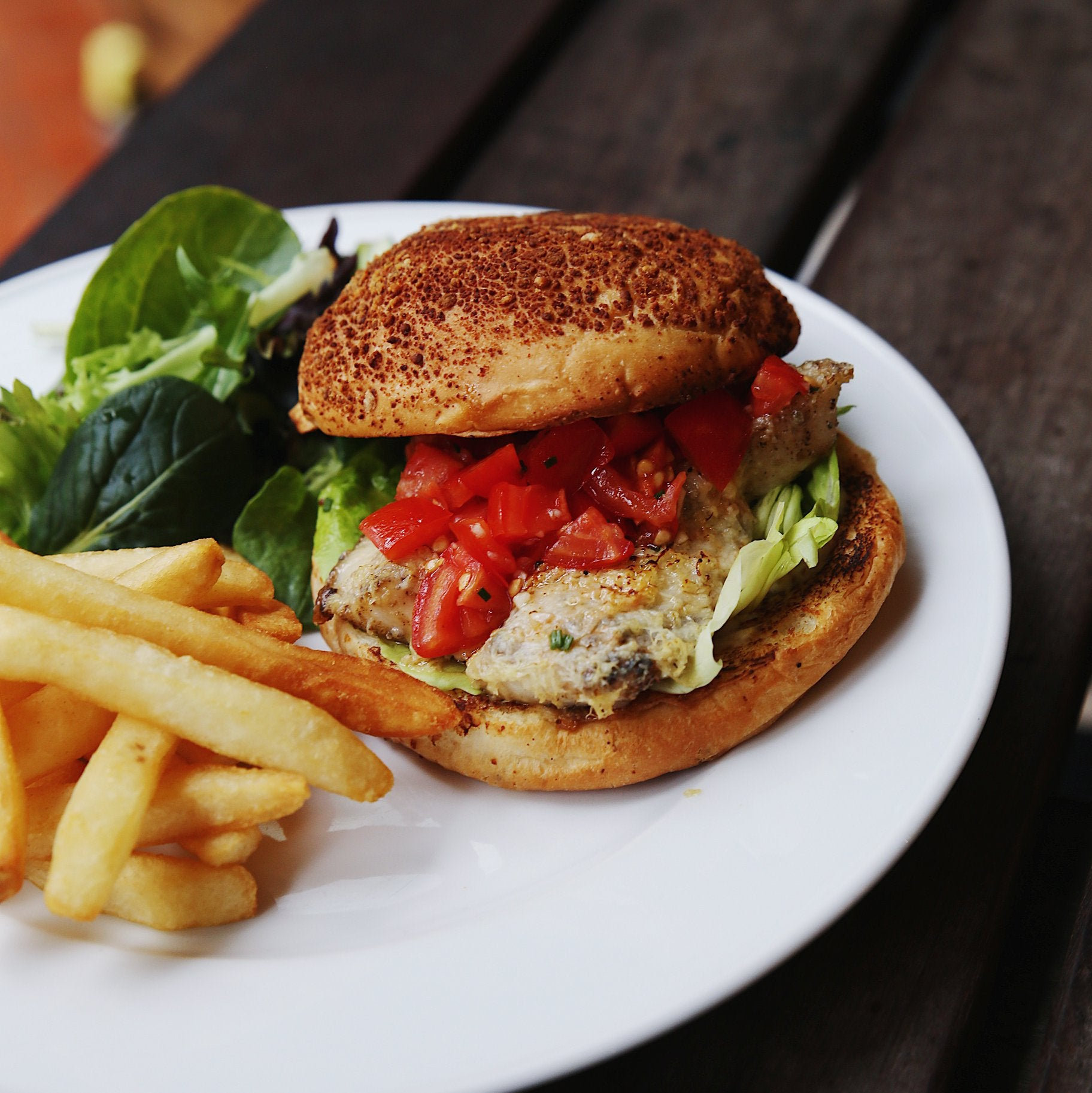 Signature Cod Fish Burger ($33)