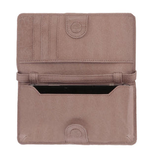 STIRLING LEATHER PHONE/CARD HOLDER || TAN