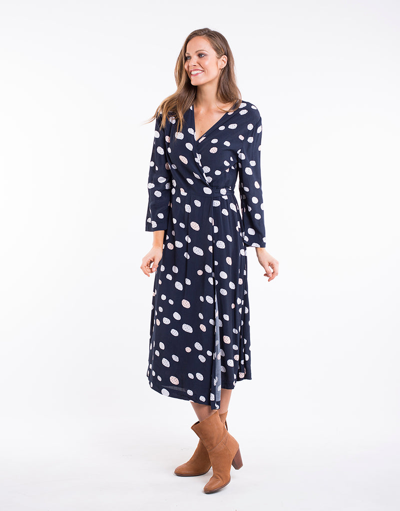 CHARLIE WRAP DRESS || PRINT