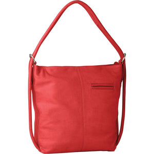INDIANA LEATHER BAG/BACKPACK || 2 IN 1 || RED