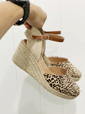 WILLOW WEDGE || LEOPARD