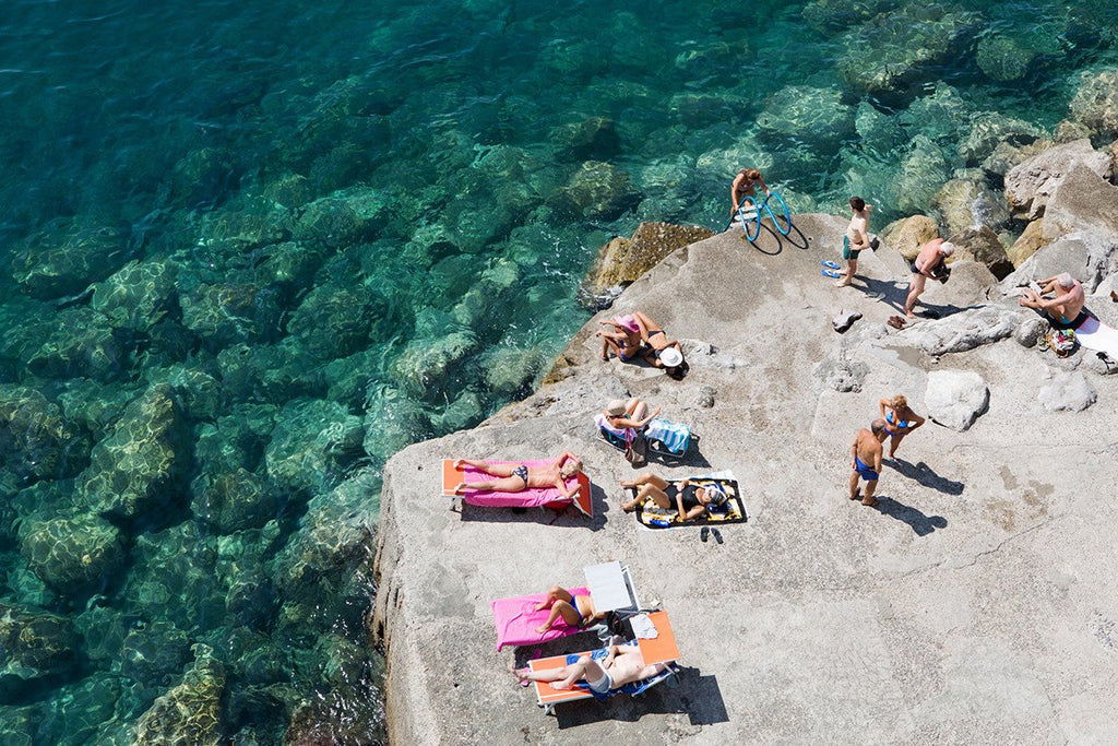 A fine art beach photo of Atrani chat by Carla Coulson taking on the Amalfi Coast