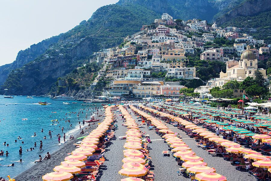 Positano Beach - Carla Coulson Limited Edition Fine Art Print, travel photography, Italy, beaches, beach photography