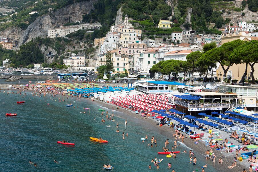 Amalfi Beach - Carla Coulson Limited Edition Fine Art Print, travel photography, Italy, beaches, beach photography