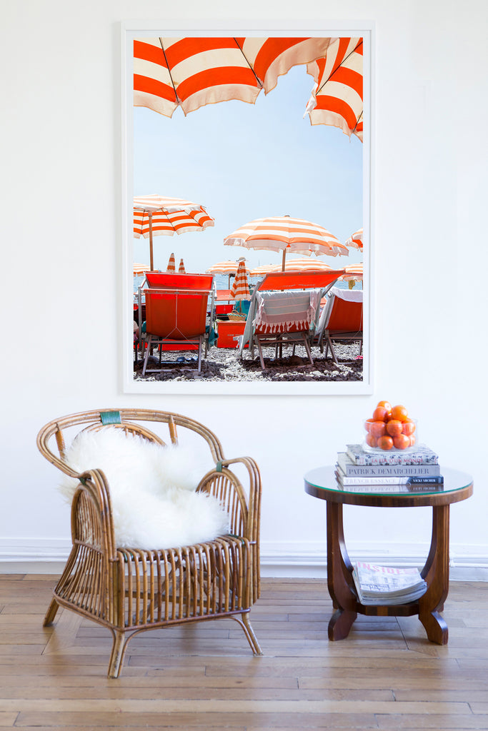 Arienzo Beach Lunchtime Calm - Carla Coulson Limited Edition Fine Art Print, beaches, travel photography, Italy, beach photography, interior design