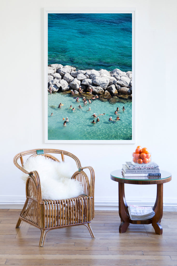 Capri Knee Deep Chat - Carla Coulson Limited Edition Fine Art Print, travel photography, Italy, beaches, beach photography, interior design