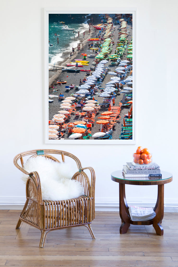 Fornillo Beach Positano - Carla Coulson Limited Edition Fine Art Print, beaches, travel photography, Italy, beach photography, interior design