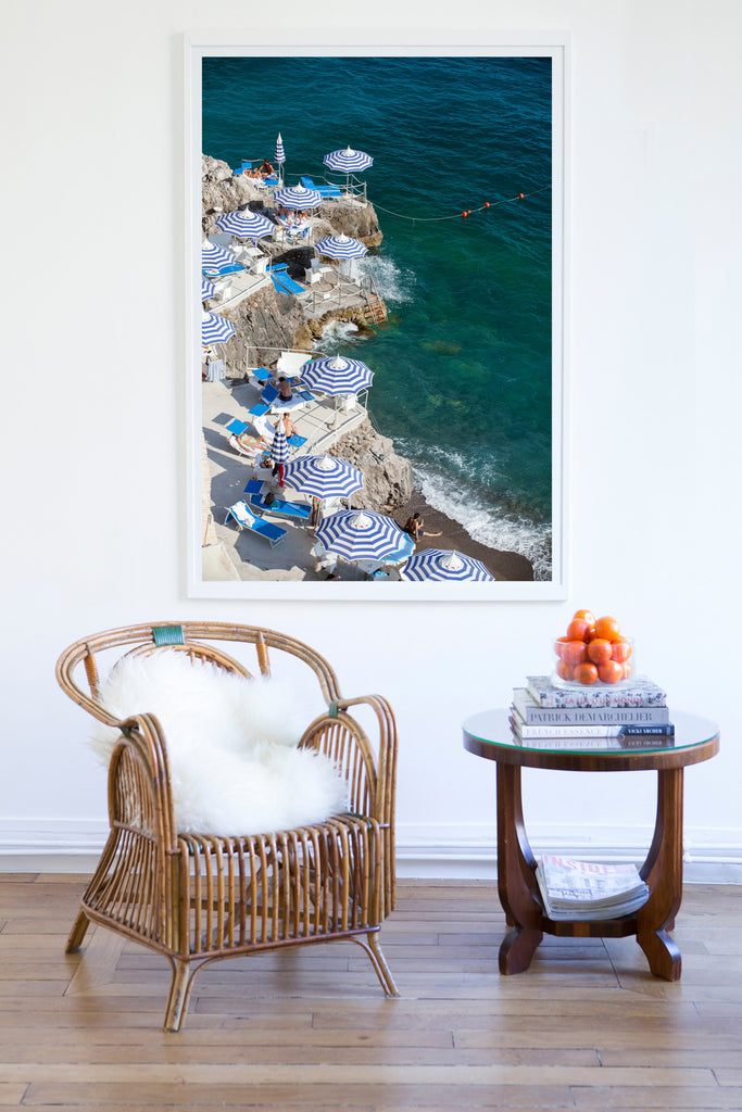 La Scogliera Beach Positano - Carla Coulson Limited Edition Fine Art Print, beaches, travel photography, Italy, beach photography, interior design