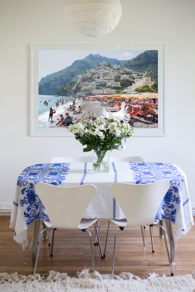 Positano Beach Swan Song - Carla Coulson Limited Edition Fine Art Print, travel photography, Italy, beaches, beach photography, interior design