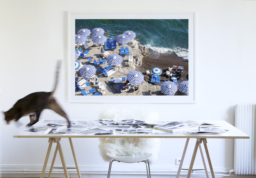 La Scogliera Beach Positano Sunbather - Carla Coulson Limited Edition Fine Art Print, travel photography, Italy, beaches, beach photography, interior design