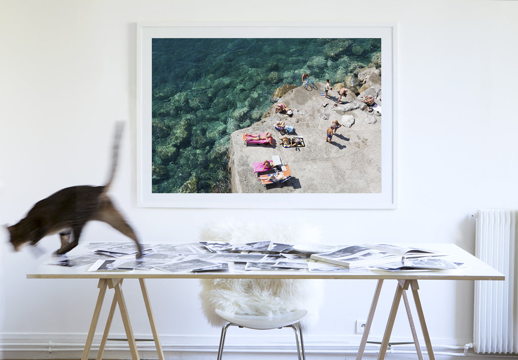 Atrani Chat - Carla Coulson Limited Edition Fine Art Print, travel photography, Italy, beaches, beach photography, interior design