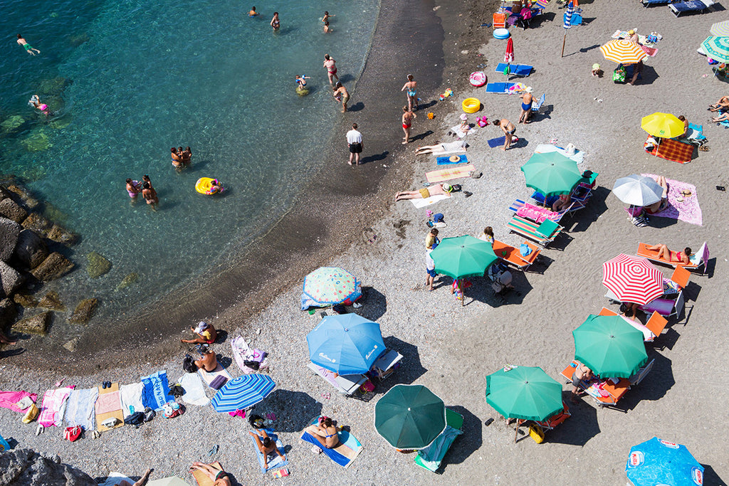 Atrani In The Swim - Carla Coulson Limited Edition Fine Art Print, travel photography, Italy, beaches, beach photography