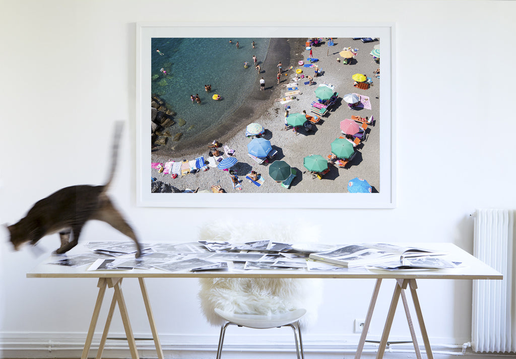 Atrani In The Swim - Carla Coulson Limited Edition Fine Art Print, travel photography, Italy, beaches, beach photography, interior design