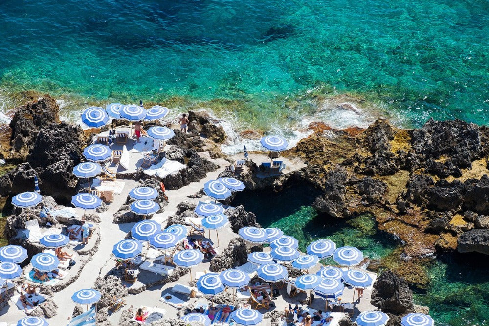 La Fontelina Beach Capri - Carla Coulson Limited Edition Fine Art Print, travel photography, Italy, beaches, beach photography