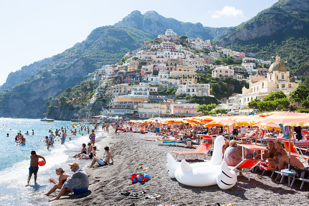 Positano Beach Swan Song - Carla Coulson Limited Edition Fine Art Print, travel photography, Italy, beaches, beach photography