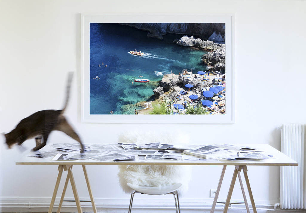 Da Luigi Beach Capri - Carla Coulson Limited Edition Fine Art Print, travel photography, Italy, beaches, beach photography, interior design
