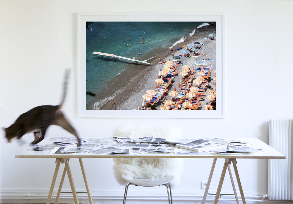 Arienzo Waiting - Carla Coulson Limited Edition Fine Art Print, travel photography, Italy, beaches, beach photography, interior design