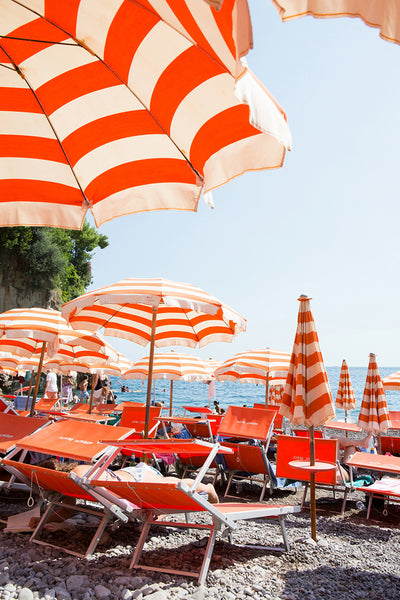 Arienzo Beach - Orange Striped Heart