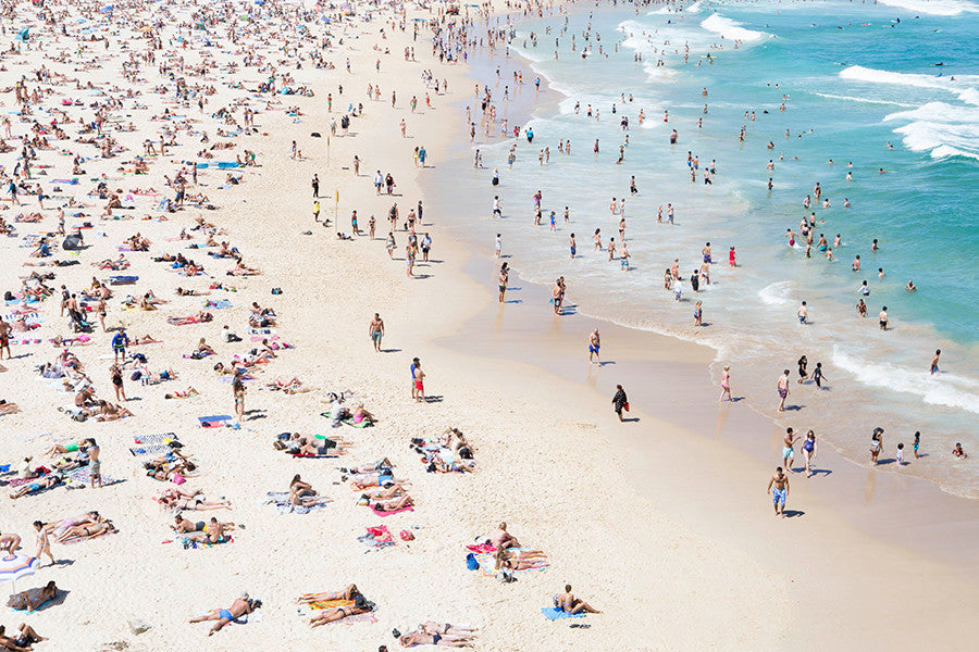 Bondi Water Jungle 2 - Carla Coulson Limited Edition Fine Art Print, travel photography, Australia, Sydney, Bondi beach, beaches, beach photography