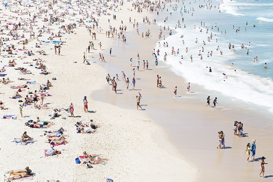 Bondi Lovers - Carla Coulson Limited Edition Fine Art Print, travel photography, Australia, Sydney, Bondi beach, beaches, beach photography