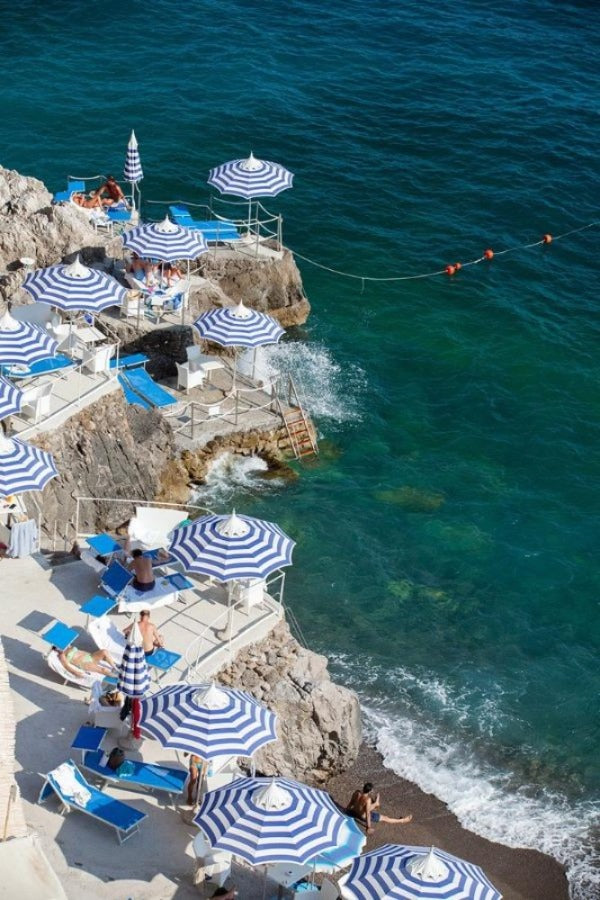 La Scogliera Beach Positano - Carla Coulson Limited Edition Fine Art Print, beaches, travel photography, Italy, beach photography
