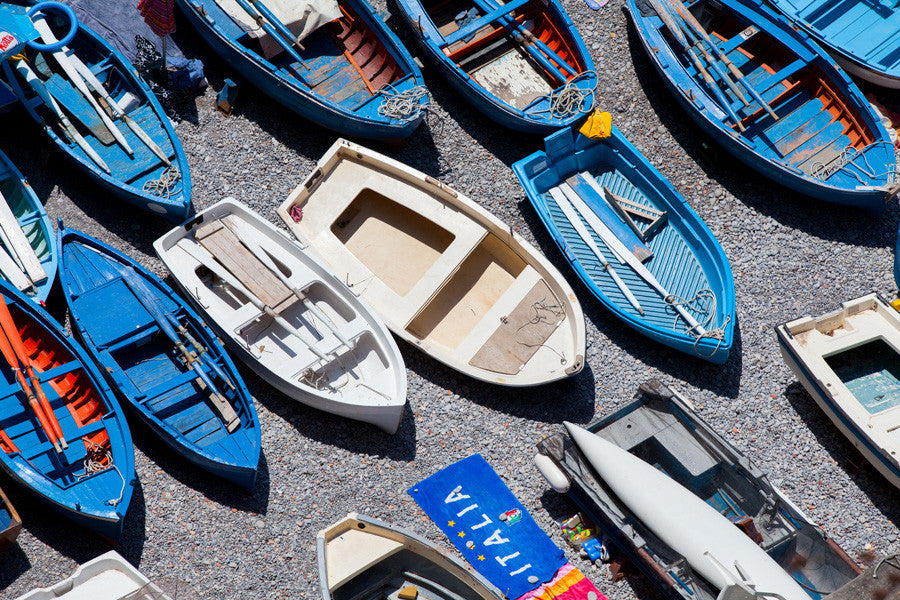 Boats Praiano - Carla Coulson Limited Edition Fine Art Print, travel photography, Italy, beaches, beach photography