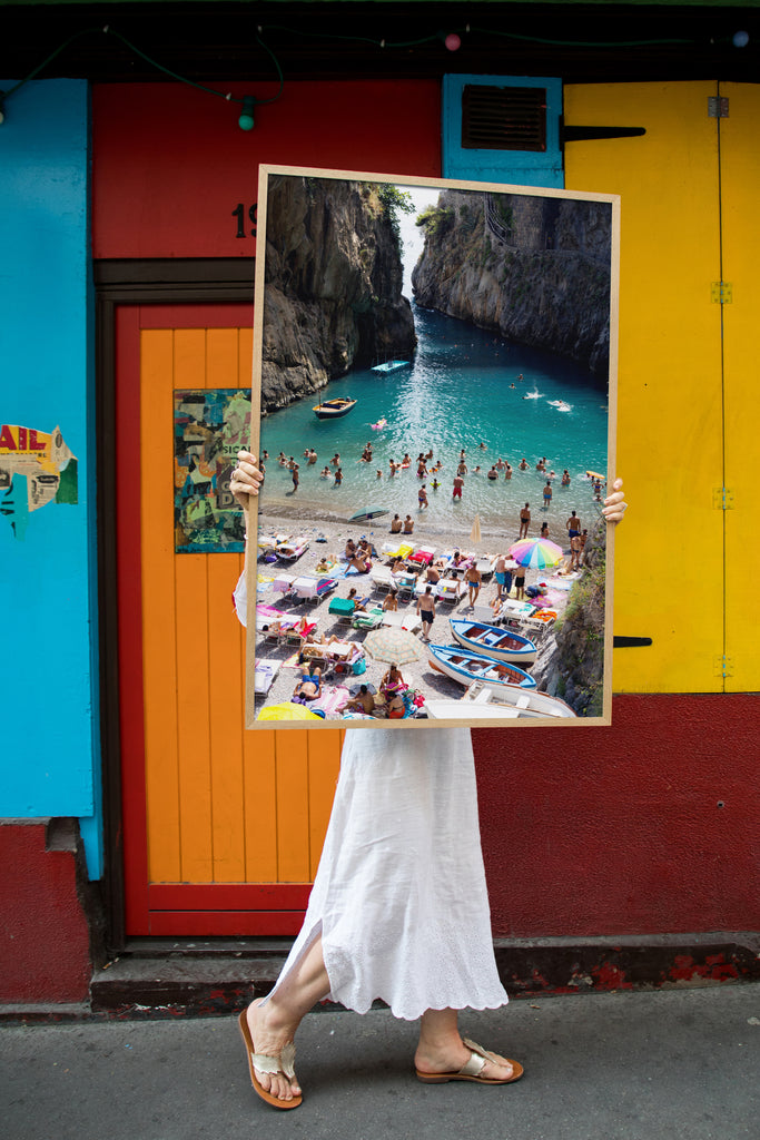 Furore Fjord Dive In - Carla Coulson Limited Edition Fine Art Print, travel photography, Italy, beaches, beach photography