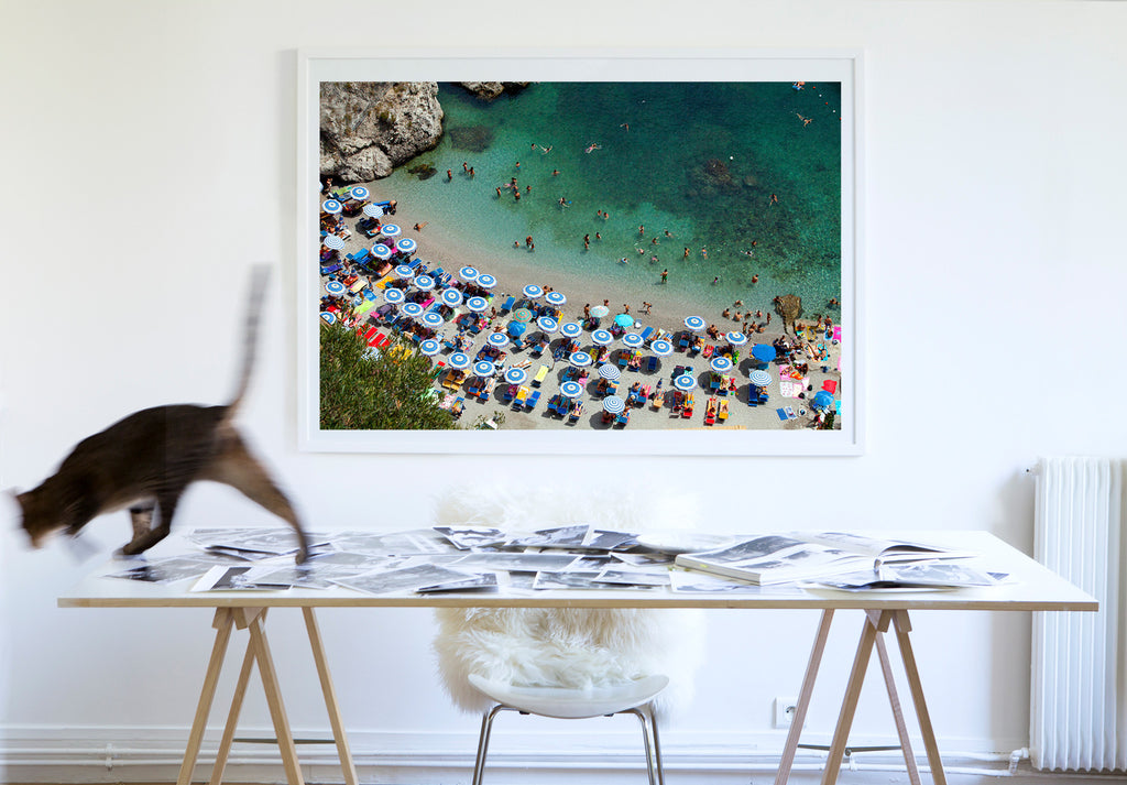 Duoglio Beach - Carla Coulson Limited Edition Fine Art Print, travel photography, Italy, beaches, beach photography, interior design