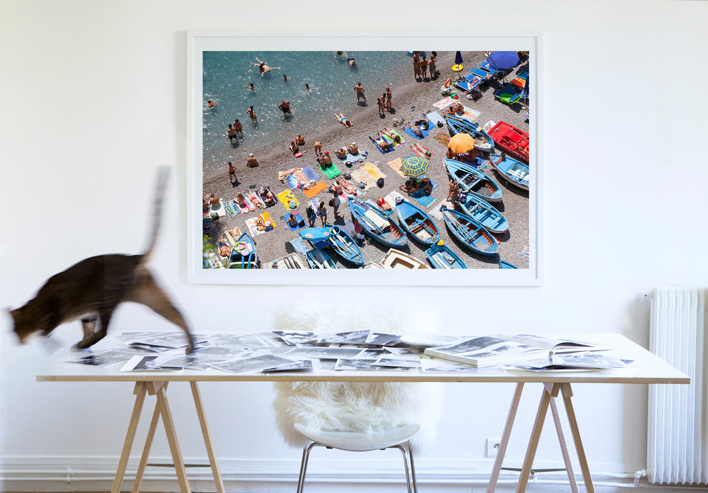La Praia Beach Praiano - Carla Coulson Limited Edition Fine Art Print, travel photography, Italy, beaches, beach photography, interior design