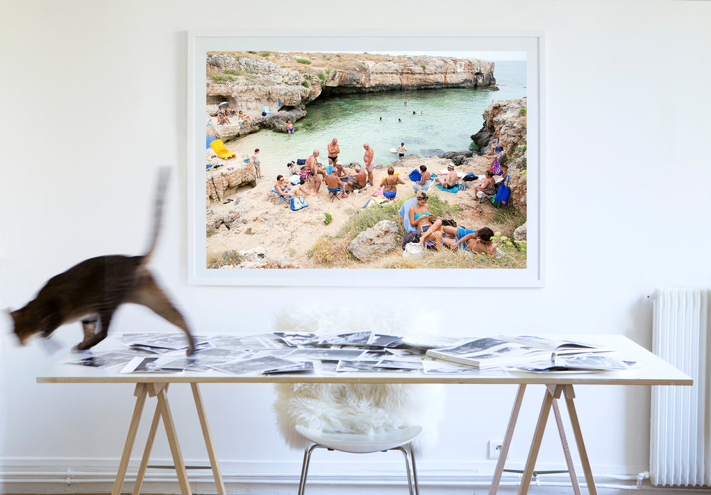 The Card Game - Carla Coulson Limited Edition Fine Art Print, travel photography, Italy, beaches, beach photography, interior design