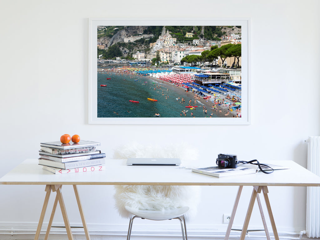 Amalfi Beach - Carla Coulson Limited Edition Fine Art Print, travel photography, Italy, beaches, beach photography, interior design