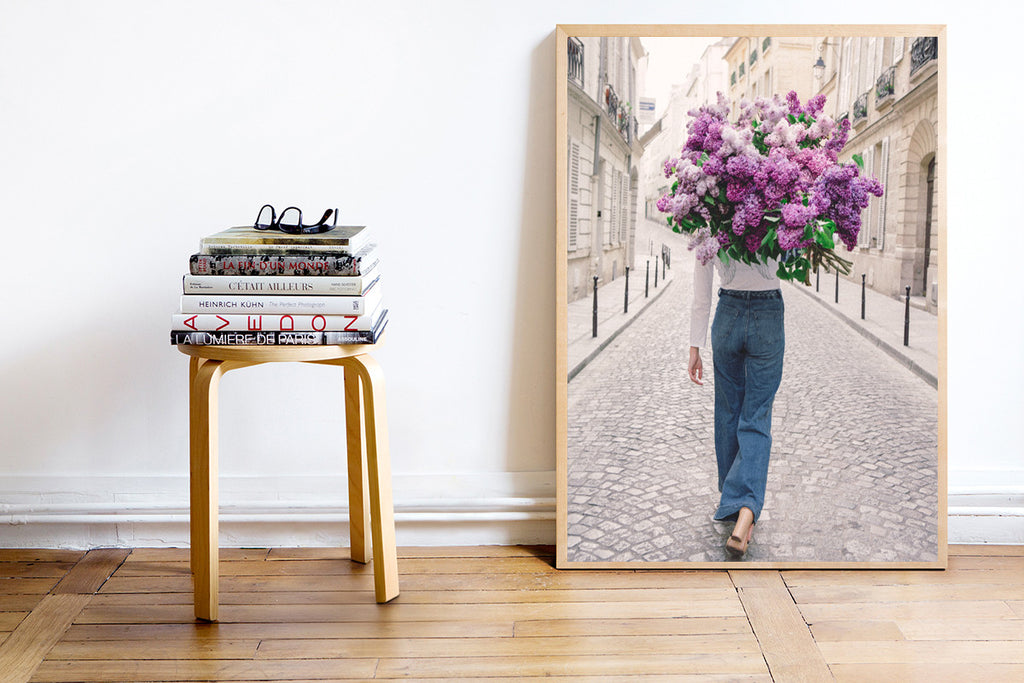 On My Way - Carla Coulson Limited Edition Fine Art Print, lilacs, flower photography, flower art, interior decor