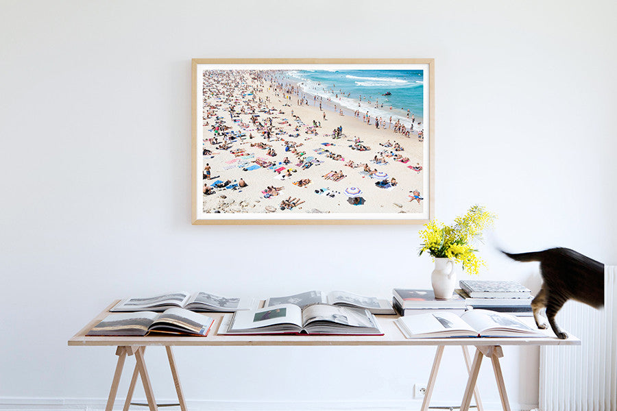 Bondi Matching brollys - Carla Coulson Limited Edition Fine Art Print, travel photography, Australia, Sydney, Bondi beach, beaches, beach photography, interior design