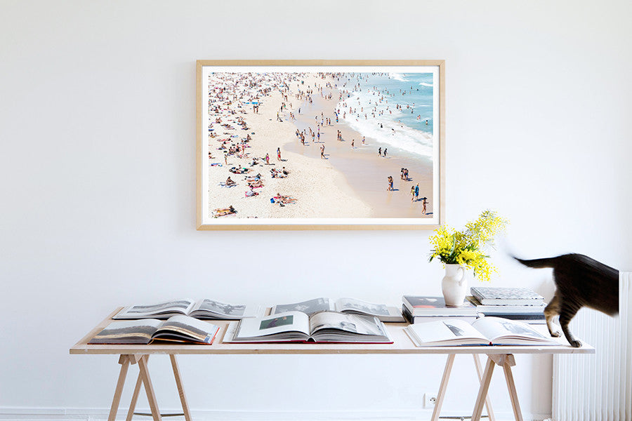 Bondi Lovers - Carla Coulson Limited Edition Fine Art Print, travel photography, Australia, Sydney, Bondi beach, beaches, beach photography, interior design