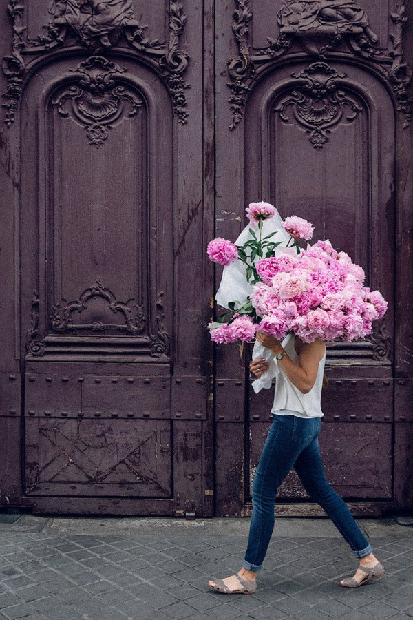 Girl On A Mission - Carla Coulson Limited Edition Fine Art Print, peonies, floral art print, flower photography