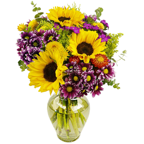 Flowering Fields Bouquet With Vase