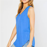 Bamboo V Neck Sleeveless Top