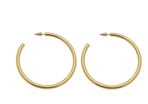 Satin Gold Hoop Earrings