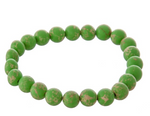 "Beaded Stretch Natural Stone inspired ""Color Therapy"" Bracelet"