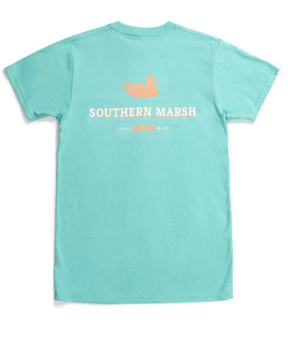 Southern Marsh Trademark Duck SS Tee - Mint