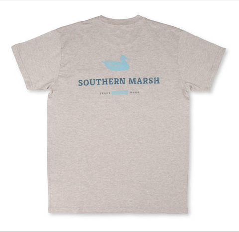 Southern Marsh Trademark Duck SS Tee - Washed Oatmeal