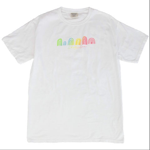 Shelly Cove Electric Double Rainbow Short Sleeve Tee