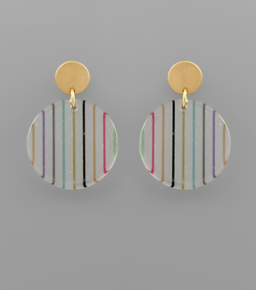 Acrylic Disc Earrings