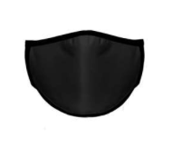 Youth and Adult Polyester Face Mask - Black