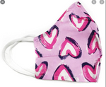 Vera Bradley Mask - Hearts Iced Pink