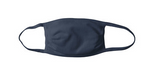 Navy Non-Pleated Cloth Face Mask