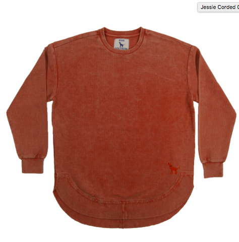 Jessie Corded Crew -Orange