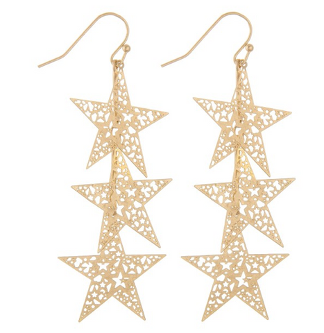 Filigree Star Dangle Earrings