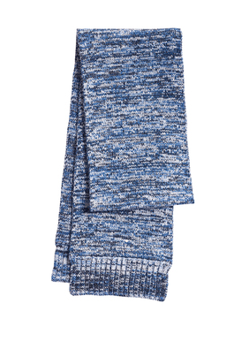 Sport-Tek Marled Scarf-True Royal/Black/White